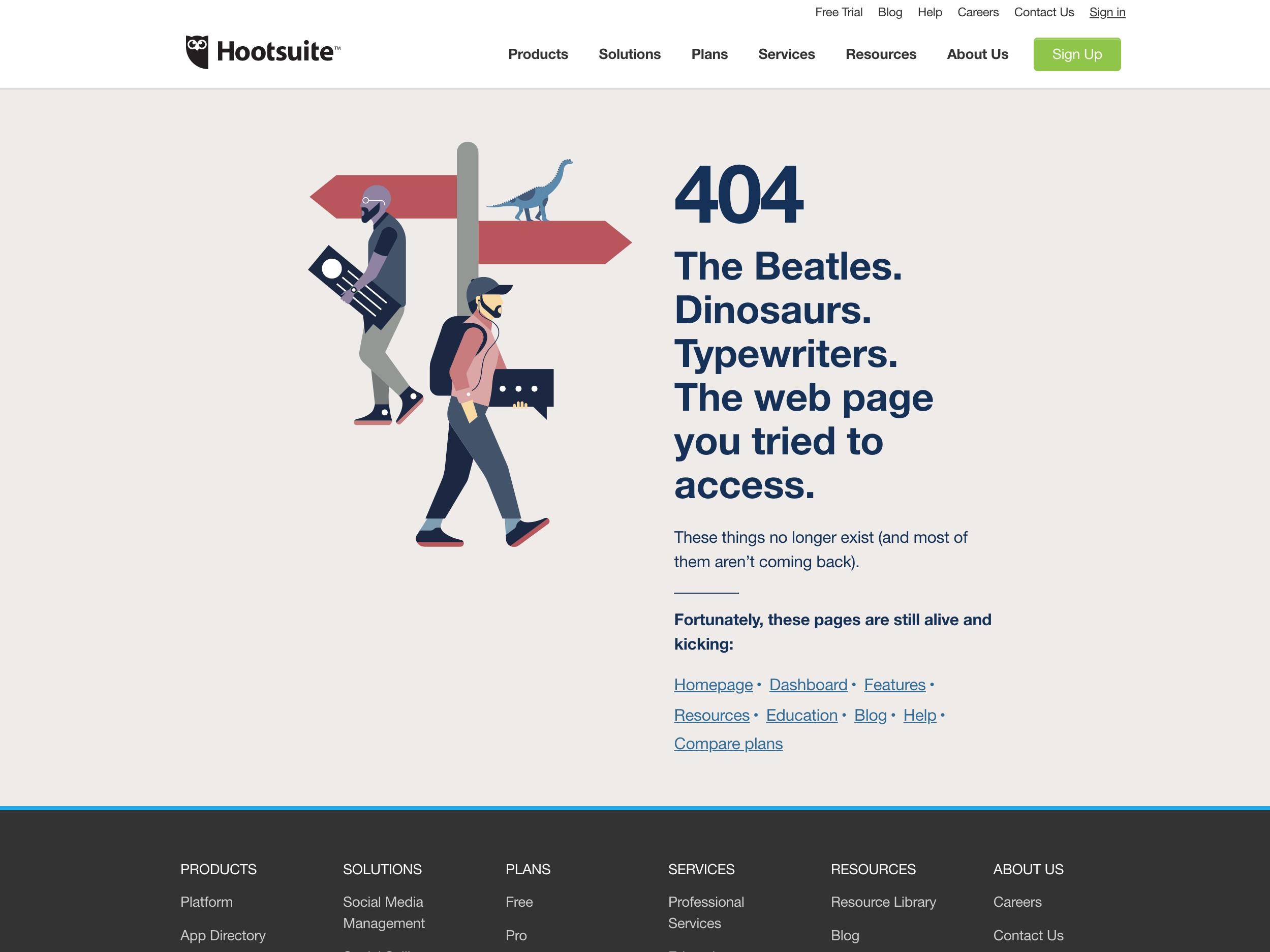 Hootsuite 404 Error
