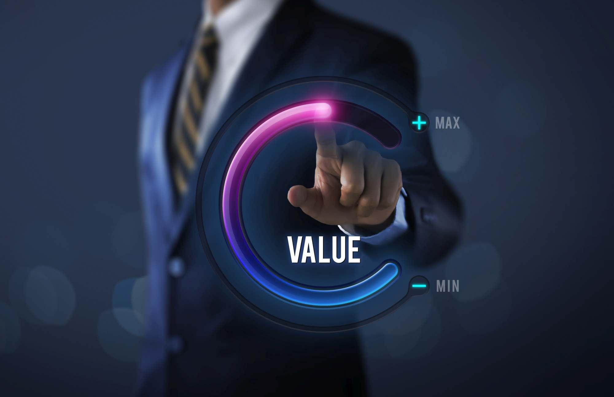 Man Demonstrating Value