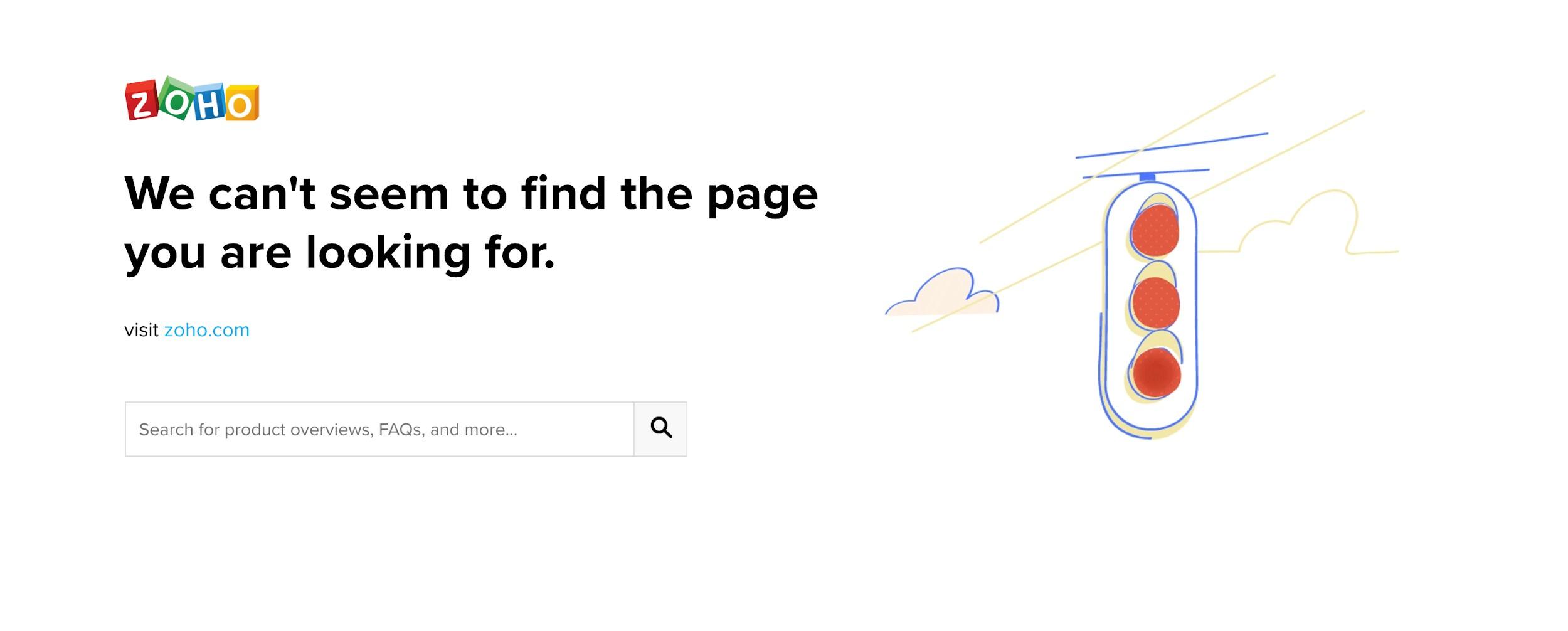 Zoho Error Screenshot