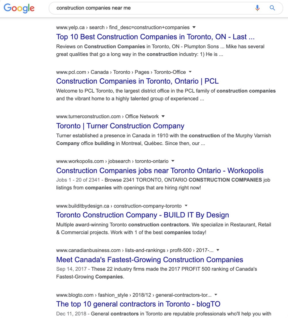SERPs Construction