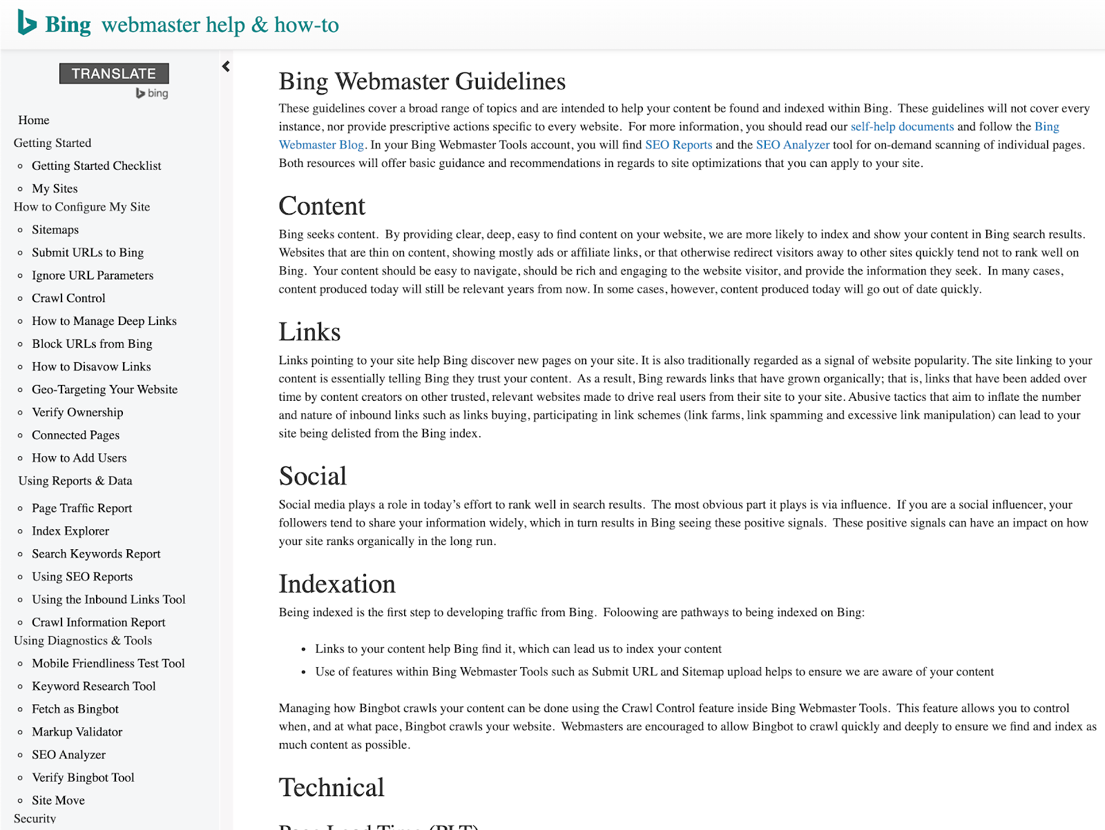 Bing Webmaster Help & How To