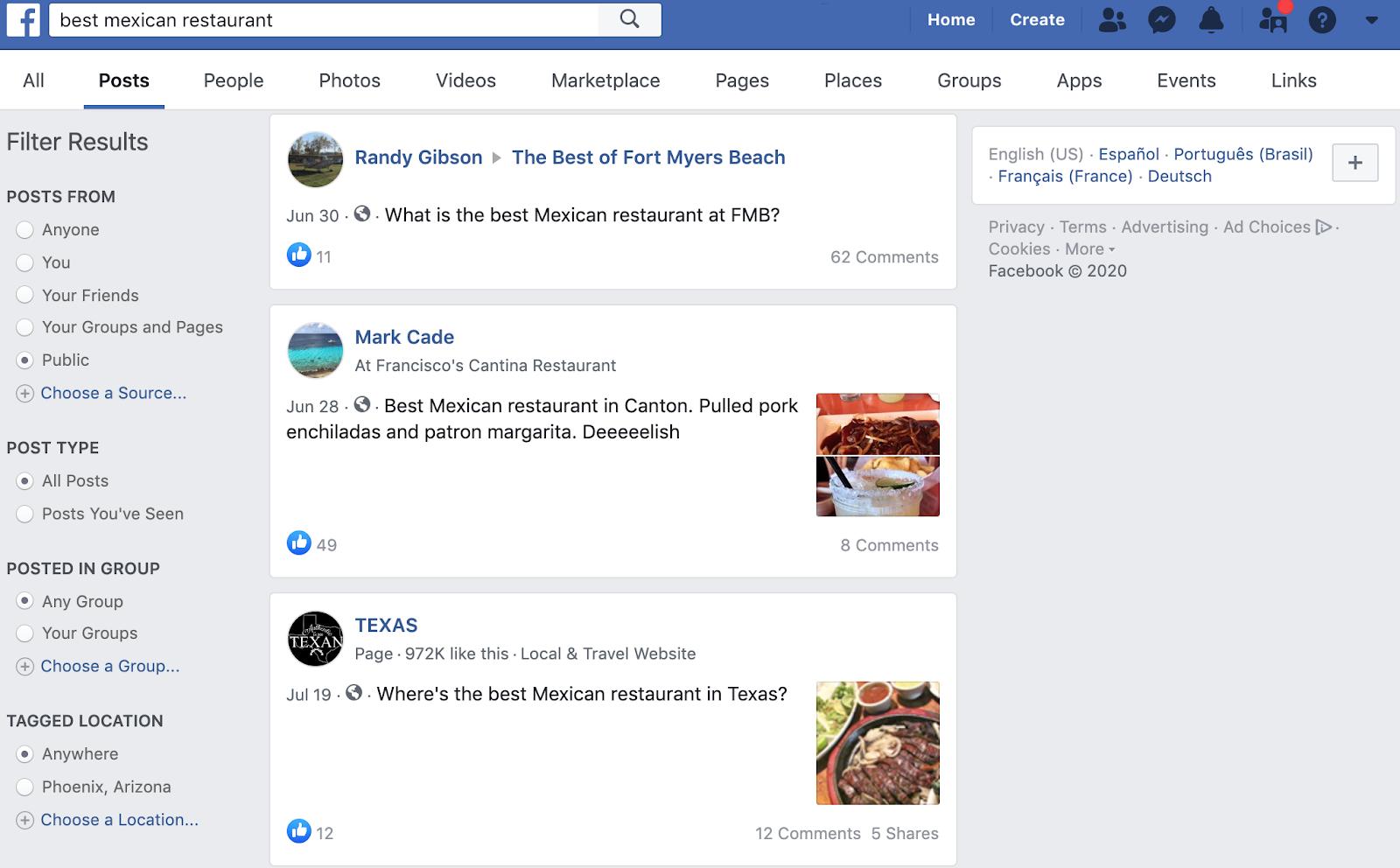Best Mexican Restaurants on Facebook