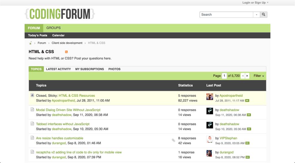 Coding Forum