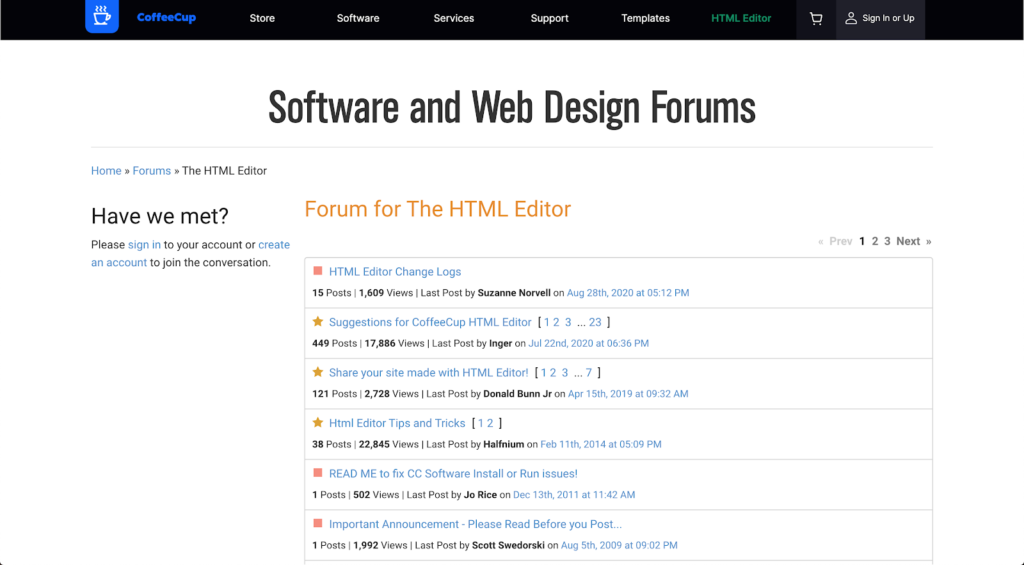 CoffeeCub Software and Web Design Forums