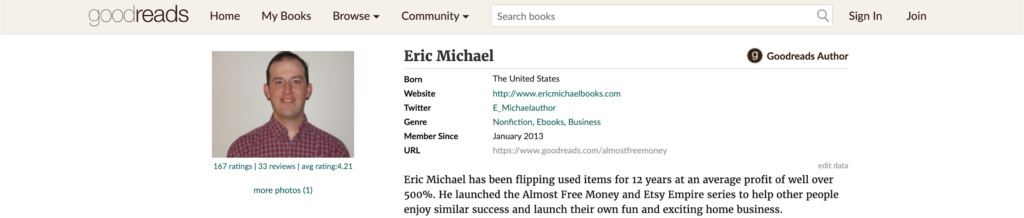 Goodreads Custom Profile