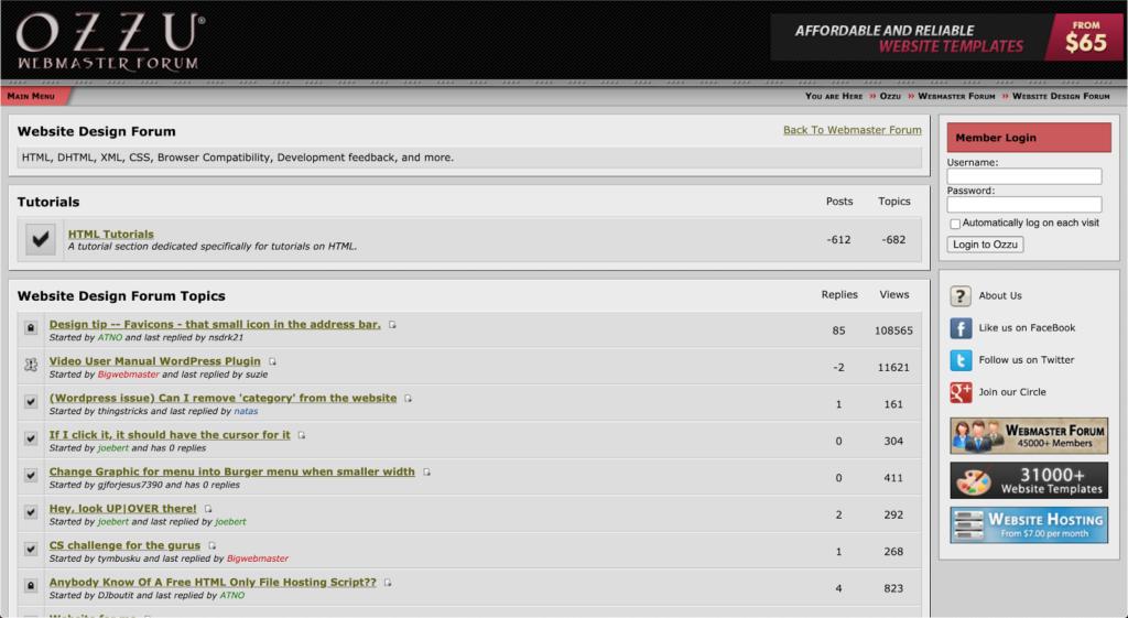 Ozzu Webmaster Forum