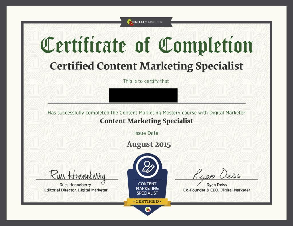 Digital Marketer Certification