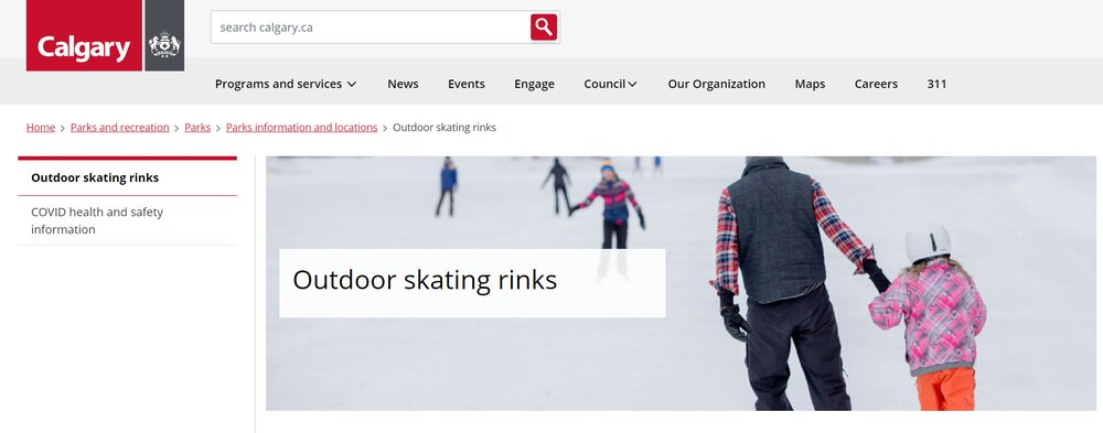 Outdoor Public Skating Rinks