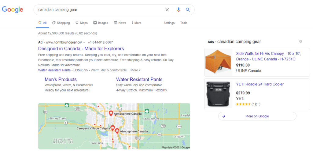 Camping Gear Search Results
