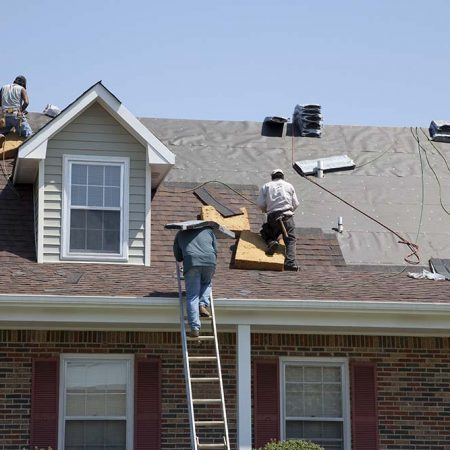 H & J Roofing Employees at Work