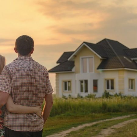 A Couple Looking at a Home